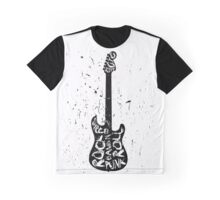 Electric Guitar Typography Graphic T-Shirt