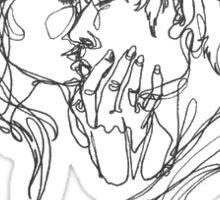 Outline Kiss Sticker