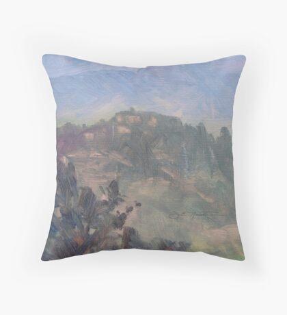 Dusk at Castello delle Forme Throw Pillow