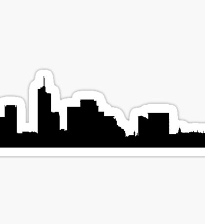 Vilnius skyline Sticker