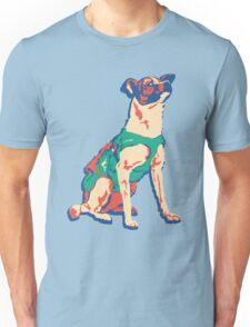 Laika Space Dog Vector Russian Propaganda Pup Retro Old-Timey Vintage Unisex T-Shirt