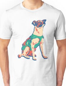 Laika Space Dog Vector Russian Propaganda Pup Retro Old-Timey Vintage Unisex T-Shirt