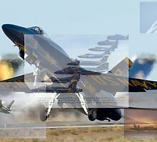 Blue Angels Montage #2 by John Schneider