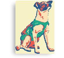 Laika Space Dog Vector Russian Propaganda Pup Retro Old-Timey Vintage Canvas Print