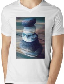 Balancing stones Mens V-Neck T-Shirt