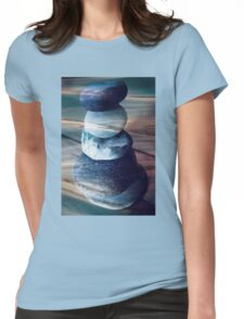 Balancing stones Womens Fitted T-Shirt