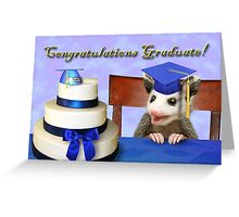 Graduation Opossum Greeting Card