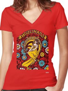 Houlihan's Old Place Women's Fitted V-Neck T-Shirt