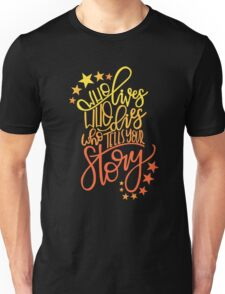Hamilton Musical Quote. Who lives... Unisex T-Shirt