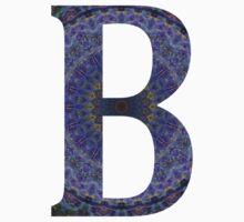 Letter 'B' Purple Mandala 2 Kids Tee