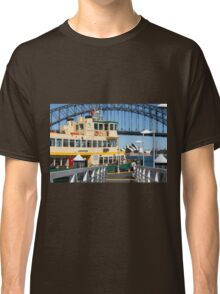 Sydney ferry,harbour bridge and Opera House Australia  Classic T-Shirt