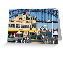 Sydney ferry,harbour bridge and Opera House Australia  Greeting Card