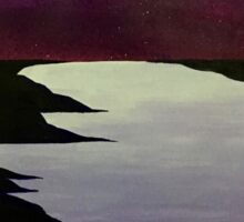 Purple Night Sky Sticker