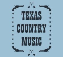 Texas Country Music (black) Kids Tee