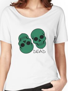 The pattern with skulls. Day of the Dead Women's Relaxed Fit T-Shirt