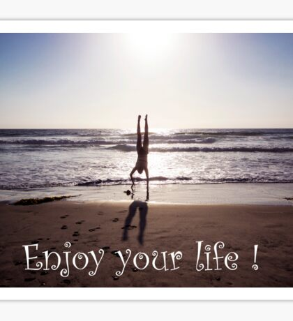 Enjoy your life - Sport Photography Sticker