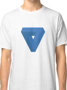 Triangle Illusion Blue Classic T-Shirt