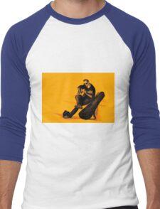 Guitarist playing on the street. Drawing illustration Men's Baseball ¾ T-Shirt