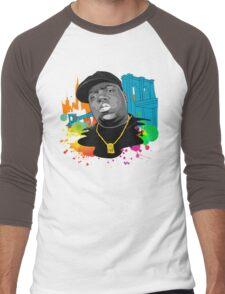 Notorious BIG (Biggie Smalls) Brooklyn Color Splash Men's Baseball ¾ T-Shirt