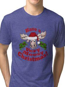 Moosy Christmas Tri-blend T-Shirt