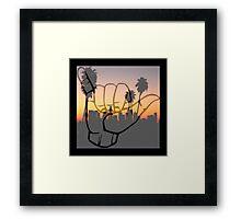Shaka City Sundown  Framed Print