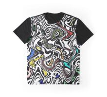 Trippy Urban Cat Graphic T-Shirt