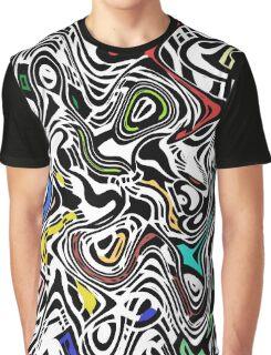 Trippy Urban Cat Graphic T-Shirt