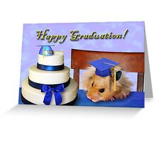 Graduation Hamster Greeting Card