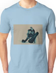Guitarist playing on the street. Drawing illustration Unisex T-Shirt