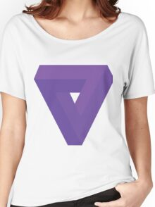 Triangle Illusion Purple Women's Relaxed Fit T-Shirt