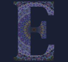 Letter 'E' Purple Mandala 2 Kids Tee