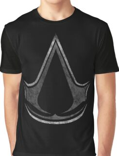 °GEEK° Assassin's Creed B&W Logo Graphic T-Shirt