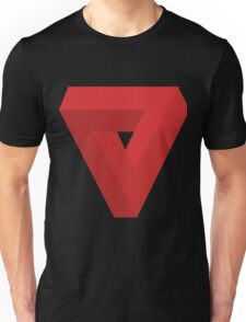 Triangle Illusion Red Unisex T-Shirt