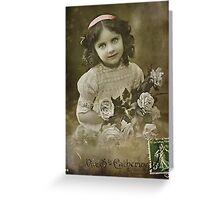 The Flower Girl Greeting Card