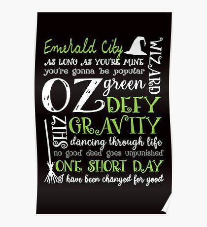 Wicked Musical Quotes Poster