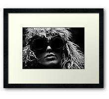 Black Glasses Framed Print