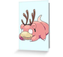 Reindeer Slowpoke  Greeting Card