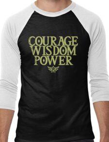 The Legend of Zelda - Courage Wisdom Power Men's Baseball ¾ T-Shirt
