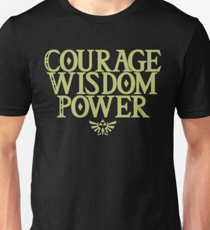 The Legend of Zelda - Courage Wisdom Power Unisex T-Shirt