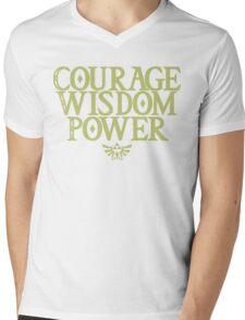 The Legend of Zelda - Courage Wisdom Power Mens V-Neck T-Shirt