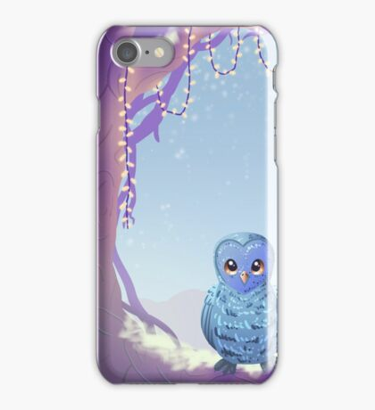 Blue Barn Owl iPhone Case/Skin