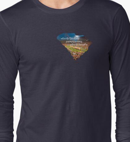 Where the Blue Ridge Yawns its Greatness Long Sleeve T-Shirt