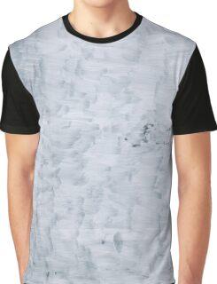 white minimal paint brush texture pattern Graphic T-Shirt