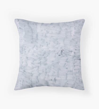white minimal paint brush texture pattern Throw Pillow