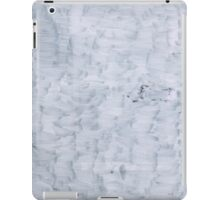 white minimal paint brush texture pattern iPad Case/Skin