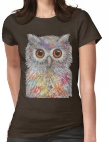 Fantasy Owl Womens Fitted T-Shirt