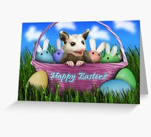 Easter Opossum Greeting Card