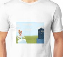 Cinderella finds the Tardis.  Unisex T-Shirt