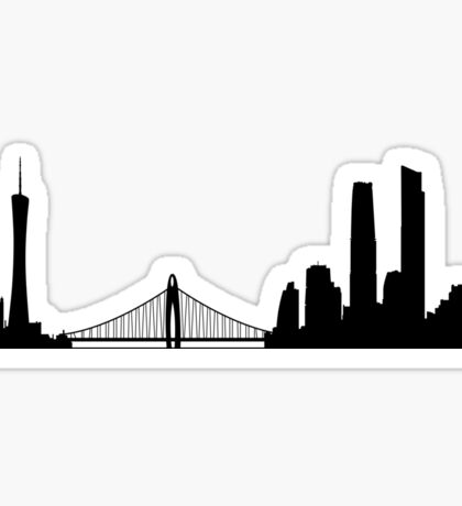 Guangzhou skyline Sticker