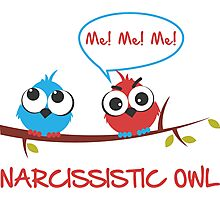 Narcissistic owl Photographic Print
